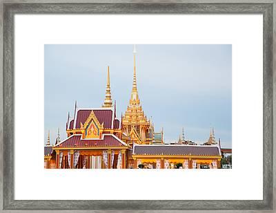 Thai Construction Design. Framed Print by Vachiraphan Phangphan