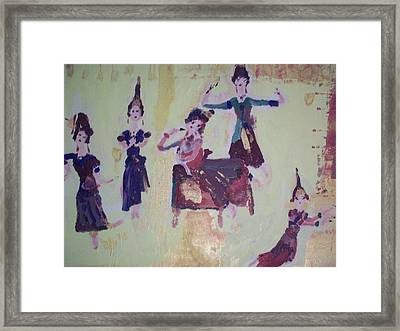Framed Print featuring the painting Thai Dance by Judith Desrosiers
