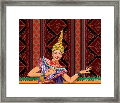 Thai Dancer Framed Print by Bedros Awak