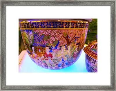 Thai Design Ceramics Framed Print