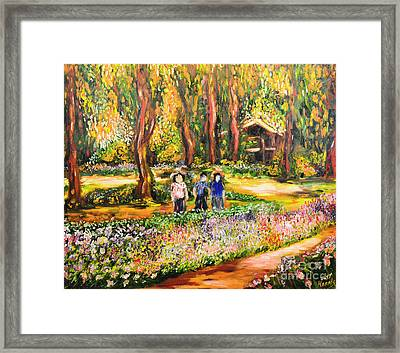 Thai Flower Garden Framed Print