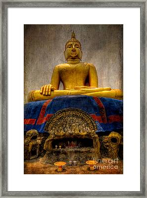 Thai Golden Buddha Framed Print