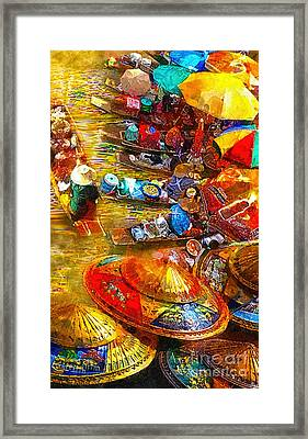 Thai Market Day Framed Print