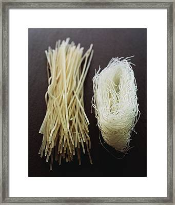 Thai Rice Noodles Framed Print by Romulo Yanes