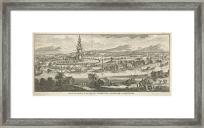 Thai River Landscape With Corpse Station Thailand Framed Print
