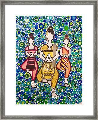 Thai Beauty Framed Print