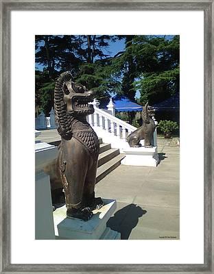 Thai Temple Steps Framed Print