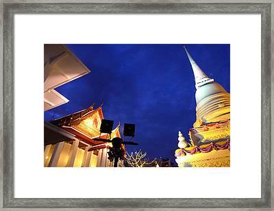 Thai Temple Sunset Framed Print