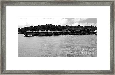 Framed Print featuring the photograph Thai Village by Andrea Anderegg