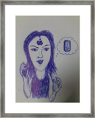 Thai Woman Like Iphone Framed Print