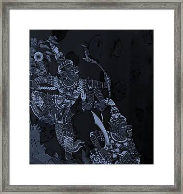 Thailand Amulets In Cyan Framed Print