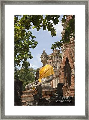 Thailand Ayutthaya Buddha Framed Print by Colin and Linda McKie
