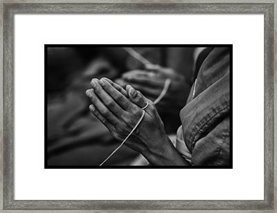 Thailand Buddhist Prayers 6 Framed Print by David Longstreath