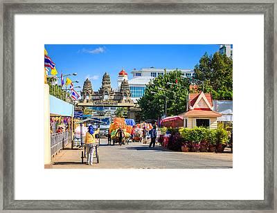 Thailand-cambodia Border Framed Print