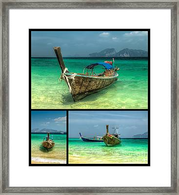 Thailand Longboats Framed Print by Adrian Evans