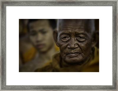 Thailand Monks 2 Framed Print by David Longstreath