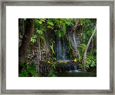 Thailand Waterfall Framed Print by Mike Lee