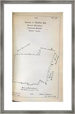 Thakbust Map Framed Print
