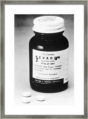 Thalidomide Tablets Framed Print by Food & Drug Administration