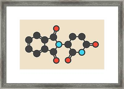 Thalidomide Teratogenic Drug Molecule Framed Print by Molekuul