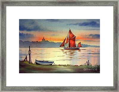 Thames Barge At Maldon Essex Framed Print
