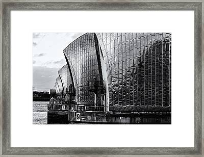 Thames Barrier Framed Print