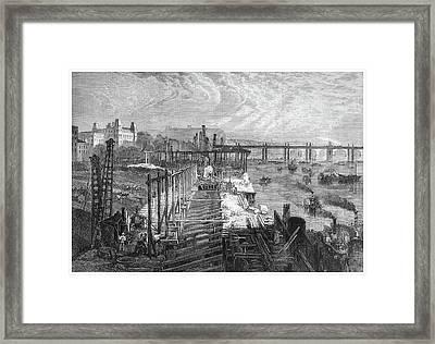 Thames Embankment, 1865 Framed Print by Granger