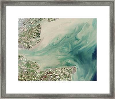 Thames Estuary Framed Print by Nasa