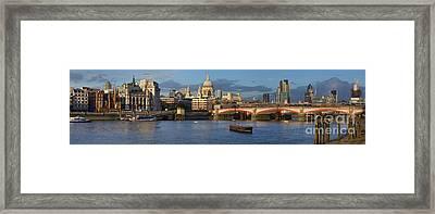 Thames Landscape Framed Print by Simon Kayne