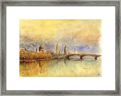 Thames London Framed Print