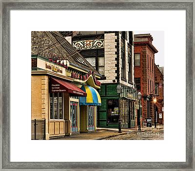 Thames Street Before The Crowds Come Framed Print by Nancy De Flon