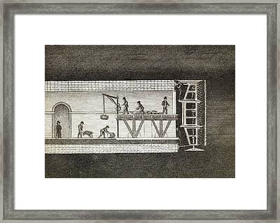Thames Tunnel Construction Framed Print by Middle Temple Library