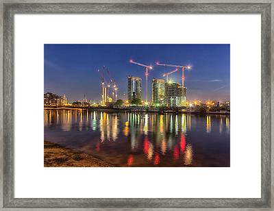 Thames View At Twilight Framed Print by Ian Hufton