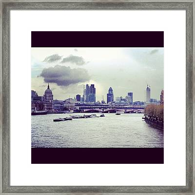 Thames View Framed Print by Maeve O Connell