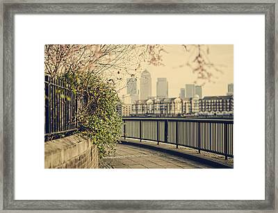Thames Walk Framed Print by Heather Applegate
