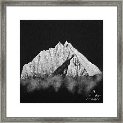 Framed Print featuring the painting Thamserku  by Rudi Prott