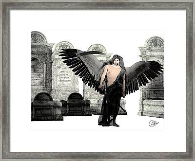 Thanatos God Of Death Framed Print by Quim Abella