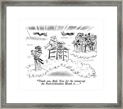 Thank You, April.  Now For The Runner-up: Framed Print by Ed Fisher