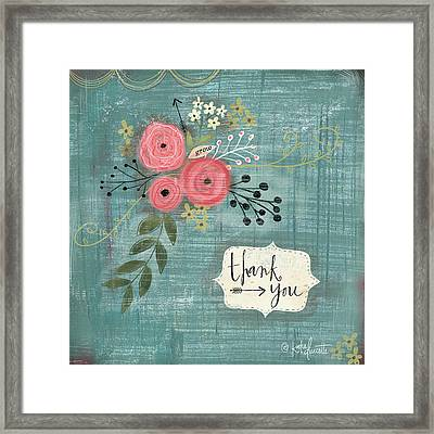 Thank You Bouquet Framed Print by Katie Doucette