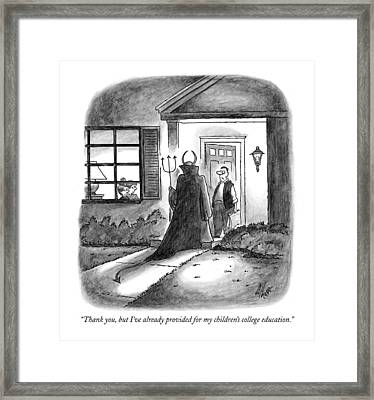 Thank You, But I've Already Provided Framed Print by Frank Cotham
