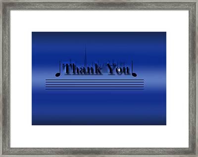 Thank You Card - Dubai Skyline Framed Print