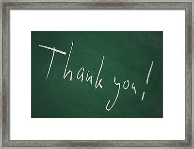 Thank You Framed Print by Chevy Fleet