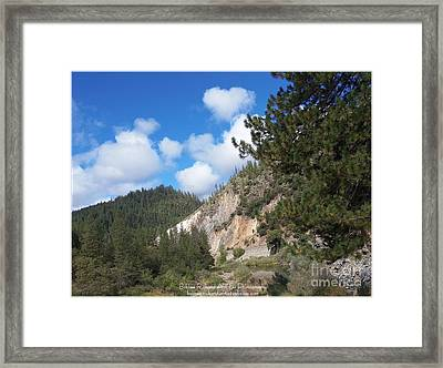 Clouds Of Hearts Framed Print