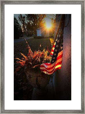 Framed Print featuring the photograph Thank You For Serving by Robert McCubbin