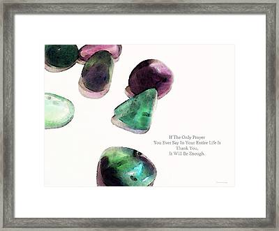 Thank You - Gratitude Rocks By Sharon Cummings Framed Print