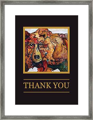 Thank You II Framed Print