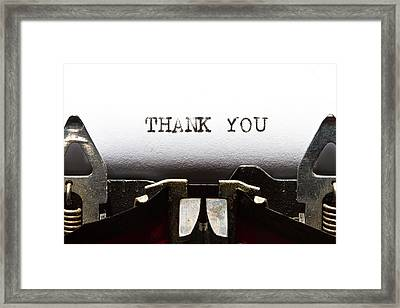 Thank You Framed Print