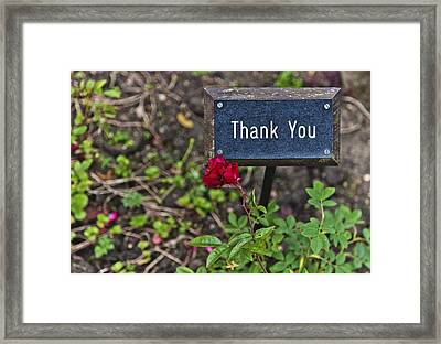 Thank You Framed Print by Maj Seda