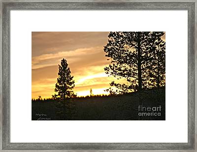 Thank You My Lord For Blessing Me -  Thank You My Lord For A Beautiful Landscape - Amen. Framed Print by  Andrzej Goszcz