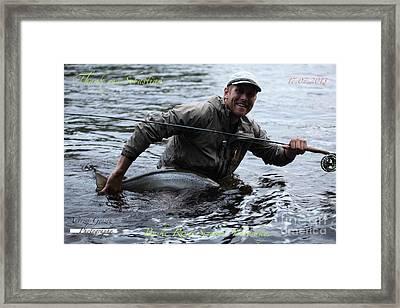 Thank You So Much Sebastian. Byske River. Sweden. Framed Print by  Andrzej Goszcz